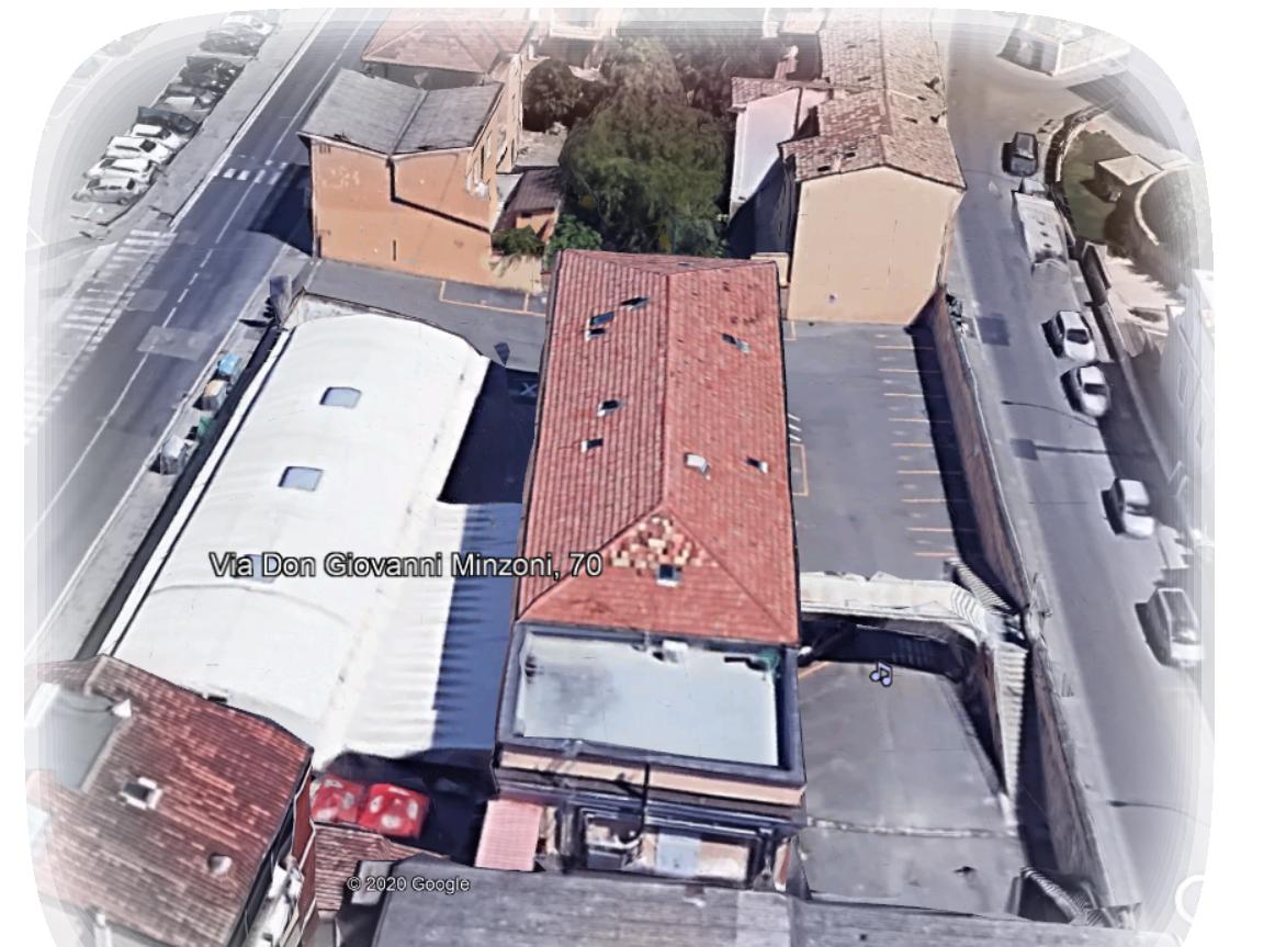 Foto aerea Casa del Popolo A. Guerrini Ravenna